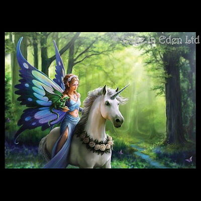 *REALM OF ENCHANTMENT* Unicorn Art 3D Picture By Anne Stokes (40x30cm approx)