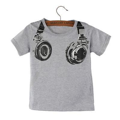 Boy Kids Casual Summer Short Sleeve Tops Blouses T Shirt O-Neck Tees US
