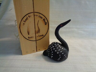 Great Northern Loon Whistle in Original Wood Case