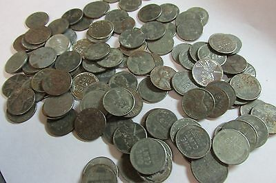 100 Coin 1943 Steel Wheat Cent Lot Lincoln Wheat Back Wheaties Penny