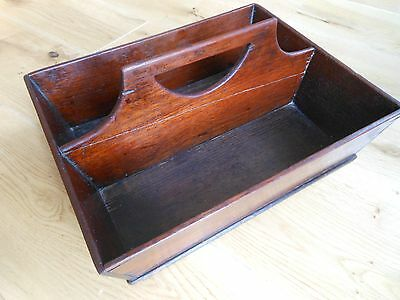 Antique Georgian Mahogany Divided Cutlery tray