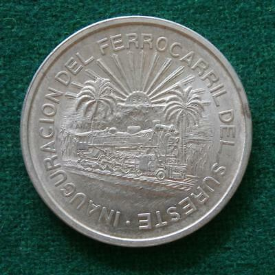 1950 Mexican Silver Coin Southern Railroad Scarce