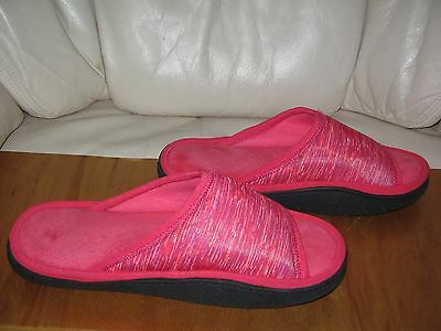 ISOLONER Women's Variegated PINK SLIPPERS  size 8.5-9
