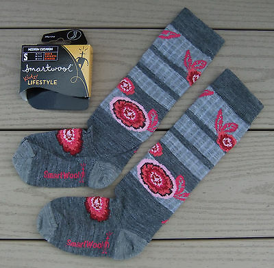 NWT SMARTWOOL Kids Lifestyle Medium Cushion Girls Socks-S (Kids 9-11.5) GRAY