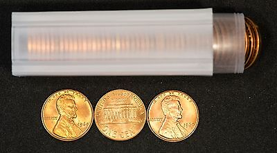 1960 Small Date Lincoln Memorial Cent UNC Roll (50 coins)