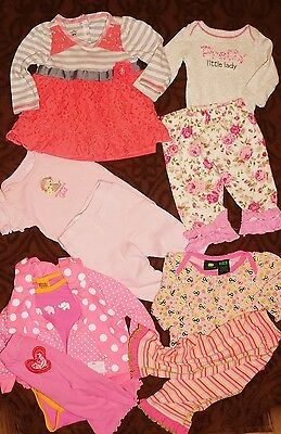 Huge 70 PC  lot baby girl clothes Sz 3-18mo Many Boutique Brands MudPie, Matilda