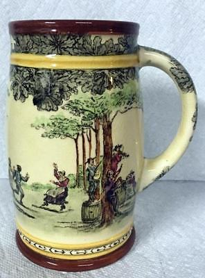 Rd Large Old Royal Doulton Series Ware Mug People Dancing Nr