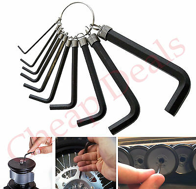 10 pcs Metric Combination Hex Key Allen Wrench 1.5mm-10mm Mechanic Tool New