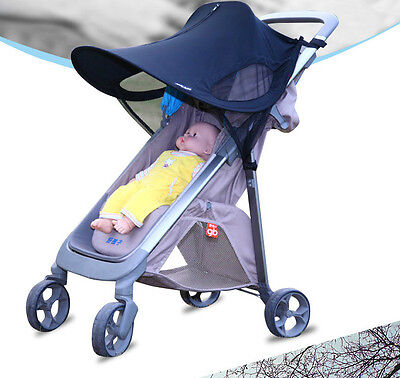 1pc Kids Baby Stroller black lycra  anti UV shade sun protective canapies cover