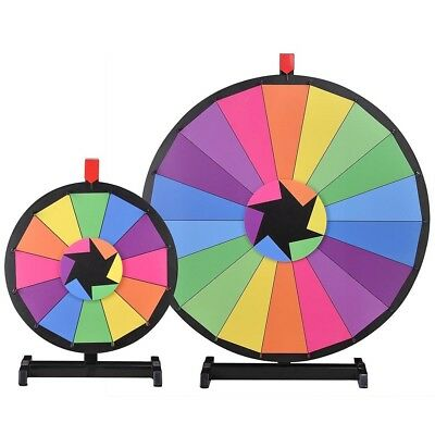 "WinSpin™ 2 Pcs 30"" & 15"" Tabletop Color Prize Wheel Spinning Game Tradeshow"