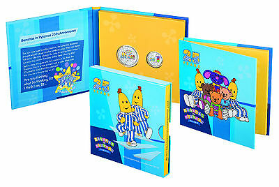 2017 Bananas in Pyjamas 25th Anniversary -Uncirculated -Frosted two coin set