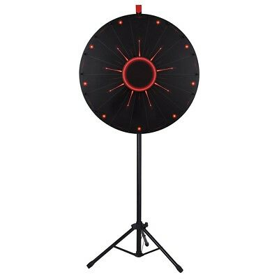"WinSpin™ 30"" LED Prize Wheel 18 Slot Floor Stand Tradeshow Carnival Spin Game"