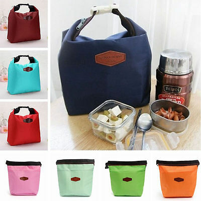 Colorful Portable Lunch Picnic Insulated Bag Storage Carrier Outside door LY