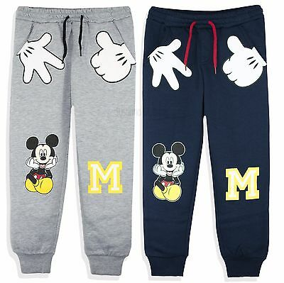 Disney Mickey Mouse Boys Trousers Sport Joggers Bottoms 2-8 Years New 2017/18
