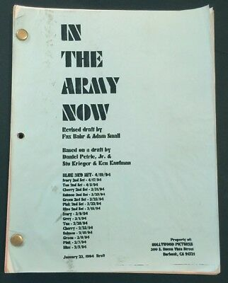 IN THE ARMY NOW Original Movie Script 1994 Pauly Shore
