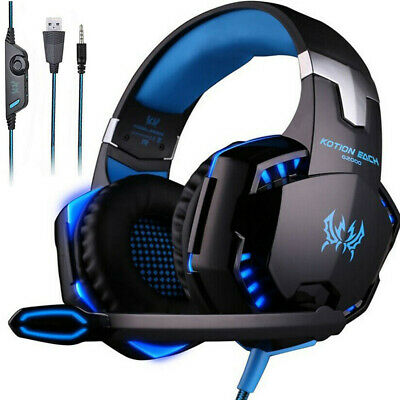 3.5mm Gaming Headset MIC LED Headphone Surround for PC Laptop PS4 Xbox One X 360