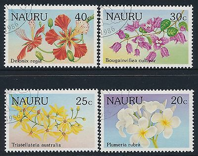 1986 Nauru Flowers Set Of 4 Fine Used/cto
