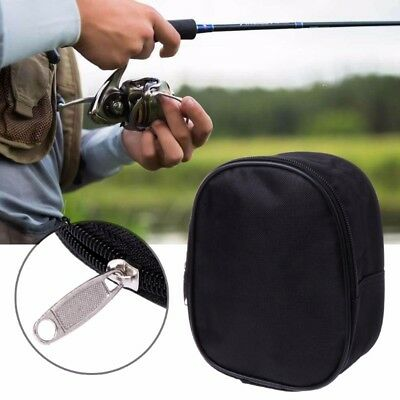 Portable Fishing Reel Mini Bag Pocket Outdoor Fishing Tackle Pouch Case Sports