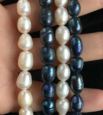 choose colors Jewelry making 1Strand Natural Freshwater Pearl Beads 7-8mm