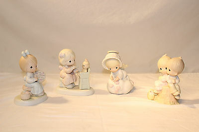 Lot of 4 Vintage Precious Moments Collectors Figurines