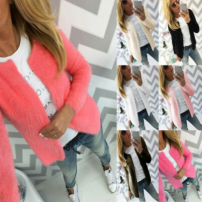 UK Winter Ladies Knitted Sweater Long Sleeve Tops Coat Jacket Cardigan Outwear