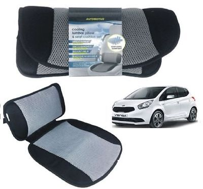 Car Lumbar Pillow & Seat Cushion Adjustable Back Support Cooling Chair Comfort