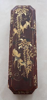 Antique Signed Japanese Lacquered Pen Box