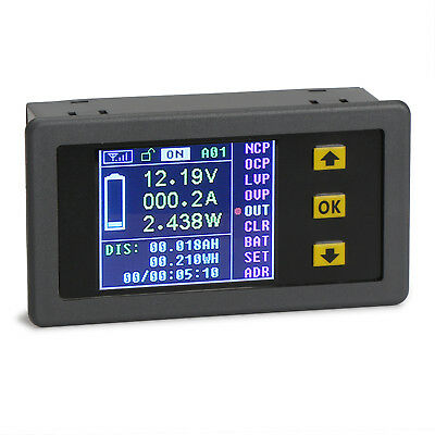 DC 0-120V 0-100A LCD Digital Multimeter Charge-Discharge Battery Tester