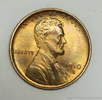 1910-S San Francisco Lincoln Wheat Cent Brilliant Uncirculated Better Date