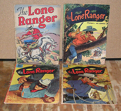 The Lone Ranger-Four Vintage Dell Comic Books-1940s/1950s
