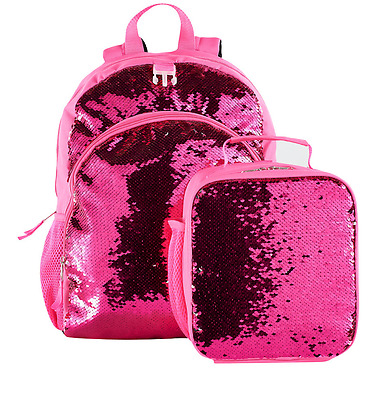 Kids Flip  Pink & Silver Sequins Backpack & Lunch Bag Set New with Tags