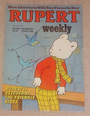 RUPERT BEAR WEEKLY COMIC NO. 20 DATED 2nd MARCH 1983