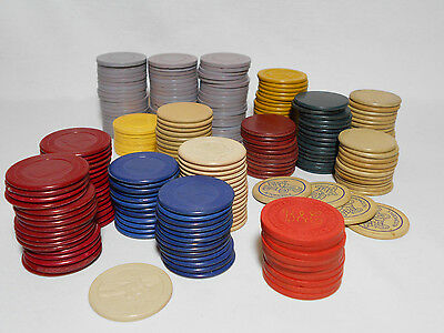 1940's-50's Poker Chip COLLECTION - Illinois ILLEGAL GAMBLING + MORE - 231 Chips