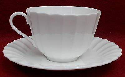 ROYAL WORCESTER china WARMSTRY White pattern Cup & Saucer