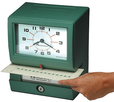 Acroprint 150Ar3 Time Clock Package Includes 200 Time Cards And Card Rack