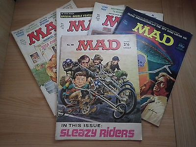 5 x Mad Magazines - Issues 102, 196, 203, 206, 221