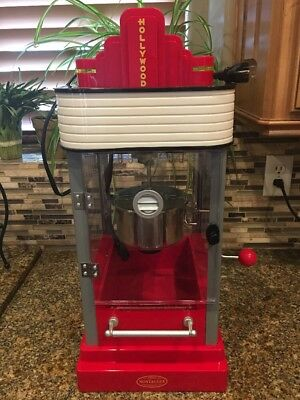 Movie Theater Marquis Nostalgia Hollywood Series Kettle Popcorn Maker, HKP200