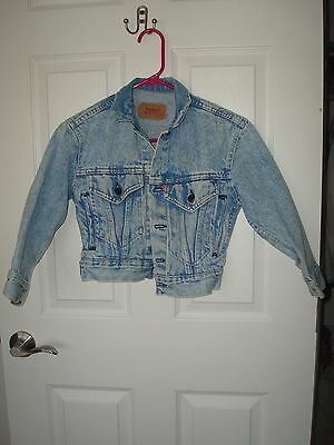 Levi strauss & co denim blue stone washed child's toddler size S/3 button down