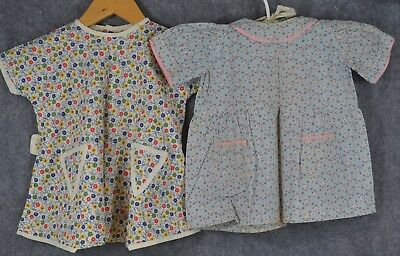 baby child doll dress vintage 1920 calico cotton vg