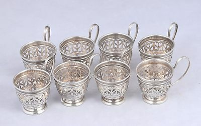 Vintage Set of 8 Gorham Sterling Silver 925 Demitasse Cup Holders A5549