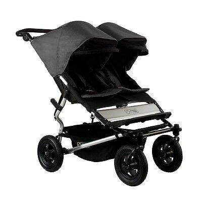 Mountain Buggy 2015 Evolution Duet Double Stroller - Flint  New! Free Shipping