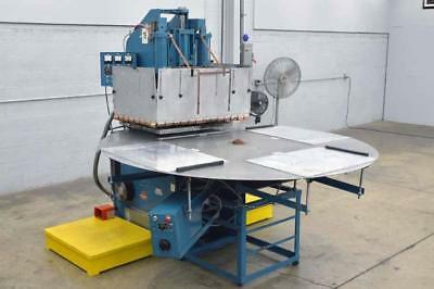 A&G 15Kw RF Welder Sealer 220Vac 3 Ph. 80A 4 Station Turntable Thermatron Cosmos