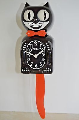 NEW AUTHENTIC Black HALLOWEEN  Kit Cat Clock Made In USA Ship Priority  24 Hrs