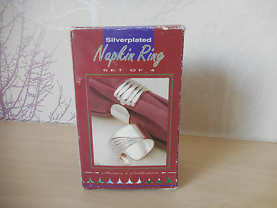 4 x Vintage Silver-Plated Hunters Collection  Napkin Rings ~ QTY 4 NEW BOXED