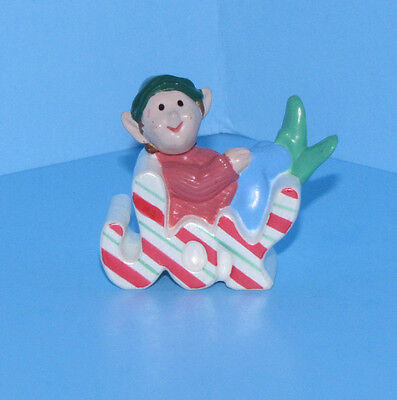 Hallmark Merry Miniatures 1989 Joy Elf Christmas Mini