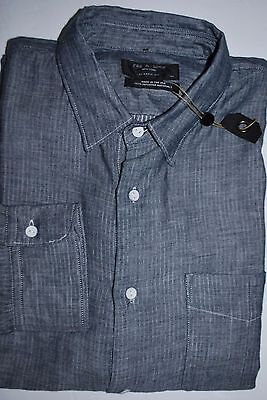 $195 Nwt New Men's Rag & Bone Classic Fit Button Up Dress Shirt Size M Or 15.5