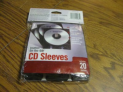 Cd Sleeves By Imation Includes 20 Sleeves