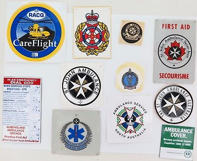 Vintage Ambulance Decals, Sticker & Fridge Magnets.