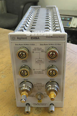 HP Agilent Keysight 83496A Opt. 101 200 Electrical Clock Recovery Module
