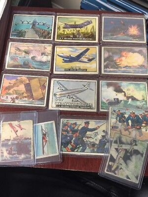 Lot Of 14 Old Vintage War Plane TRADING Cards